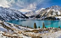 Snowy mountains lake wallpaper 1920x1080 jpg