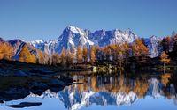 Snowy rocky peaks wallpaper 3840x2160 jpg
