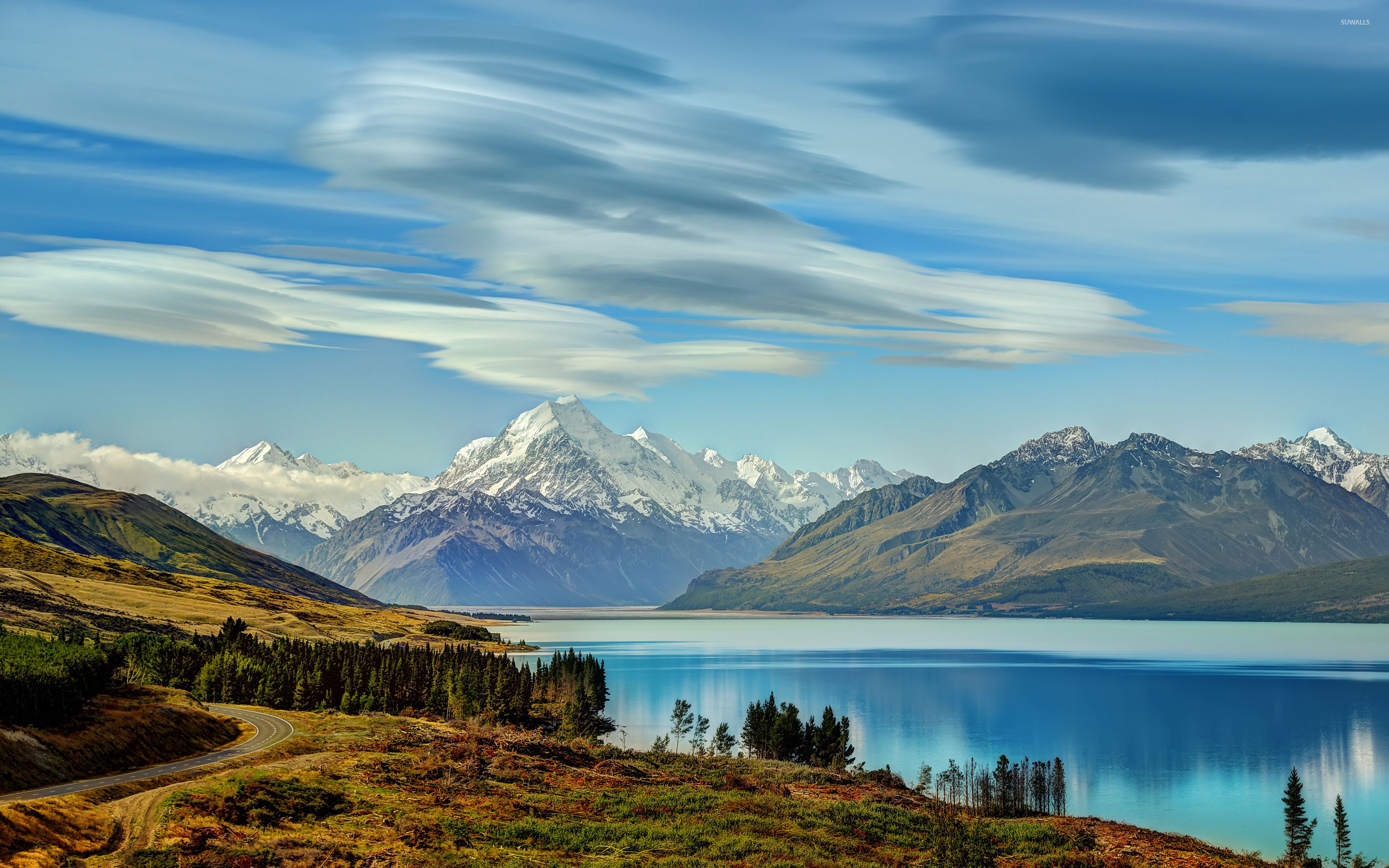 Lake Hawea New Zealand wallpaper Nature wallpapers