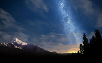 Starry night sky wallpaper 1920x1200 jpg
