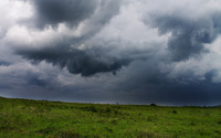 Storm clouds over the field wallpaper 2880x1800 jpg