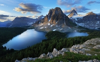 Sunburst Lake near Mount Assiniboine wallpaper 1920x1080 jpg
