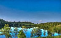 Sunny day above the lake wallpaper 1920x1200 jpg