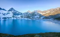 Sunny day at the blue lake mountain wallpaper 3840x2160 jpg