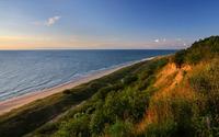 Sunny day at the ocean beach wallpaper 1920x1200 jpg
