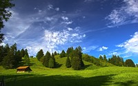 Sunny day in the mountains wallpaper 2560x1600 jpg