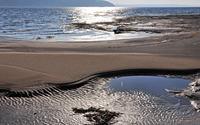 Sunny sandy beach wallpaper 3840x2160 jpg