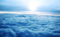 Sunrise over the clouds wallpaper 1920x1200 jpg