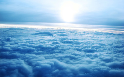 Sunrise over the clouds wallpaper