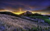 Sunrise over the hills wallpaper 2560x1600 jpg