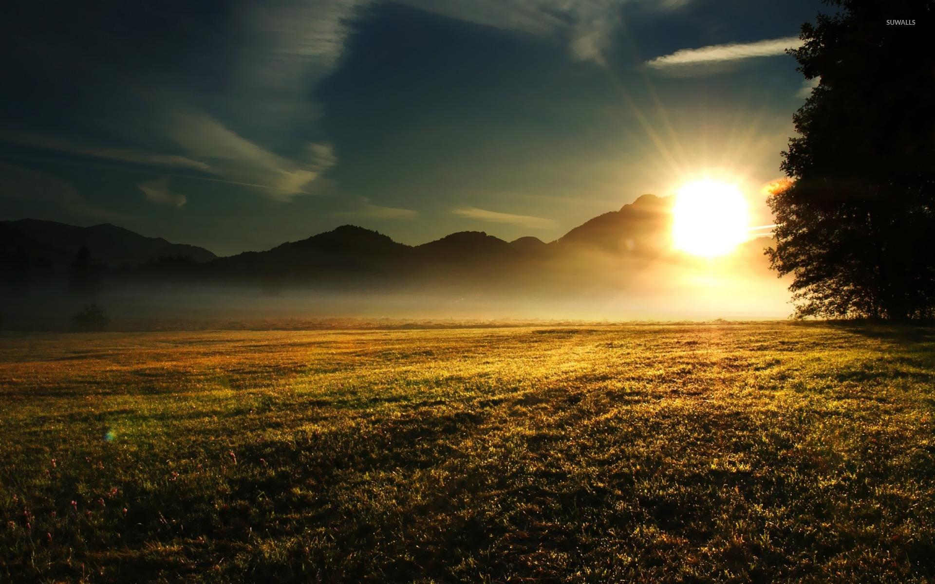 Beautiful Sunrise Over The Lake Wallpaper WallDevil