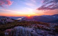 Sunrise over the mountains [3] wallpaper 1920x1200 jpg