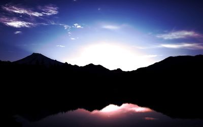 Sunrise reflection in the mountain lake wallpaper