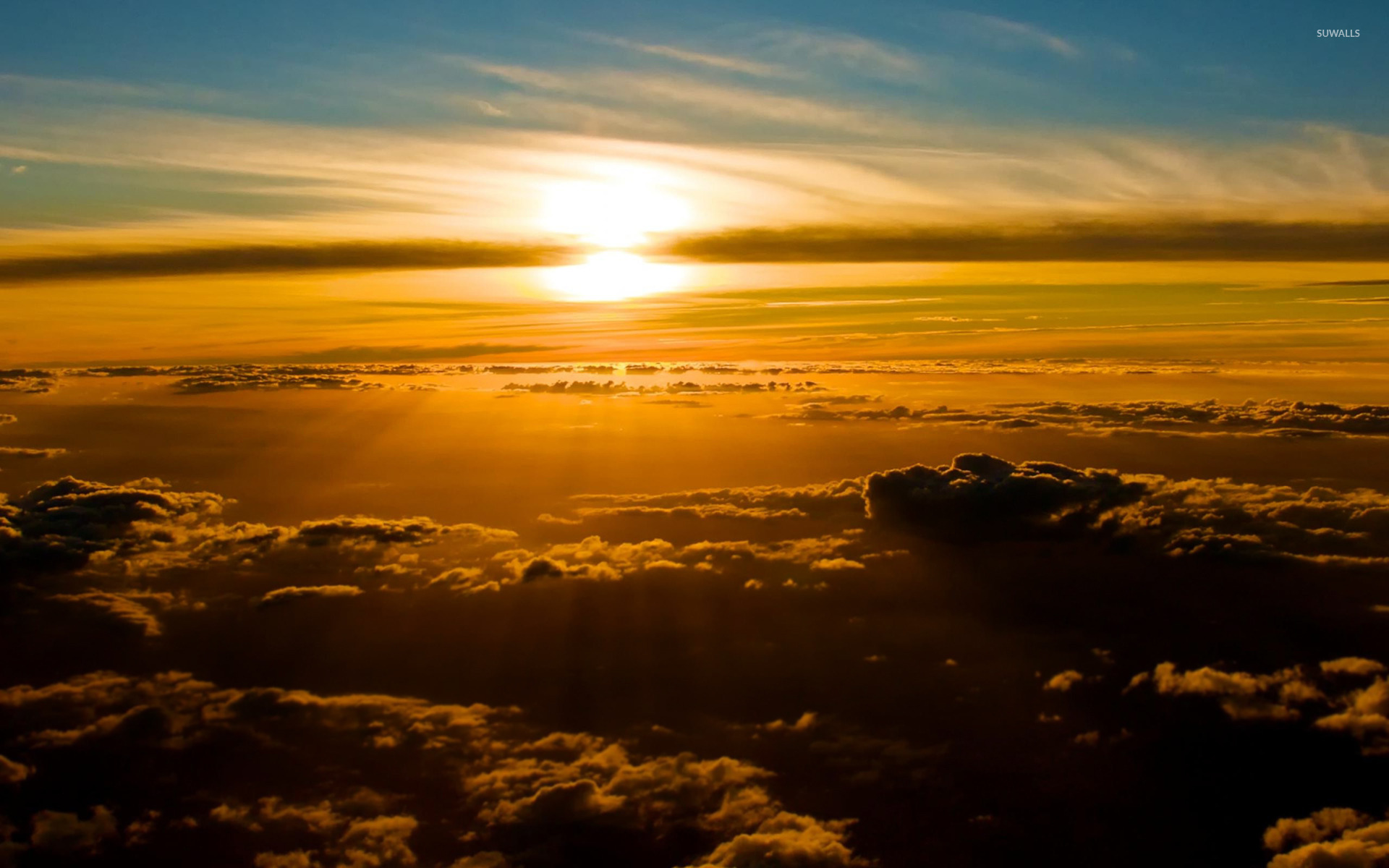 Sunset above the clouds 2 wallpaper - Nature wallpapers ...