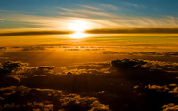 Sunset above the clouds [2] wallpaper 1920x1200 jpg