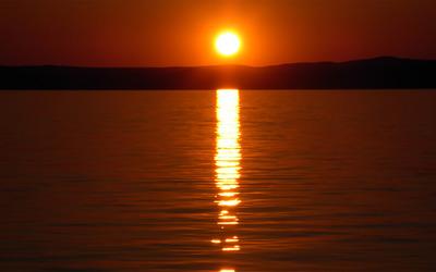 Sunset at Lake Balaton [2] wallpaper
