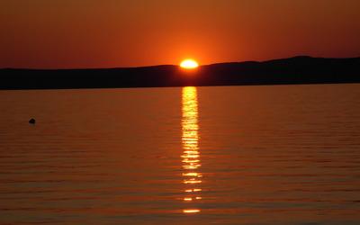 Sunset at Lake Balaton [3] wallpaper