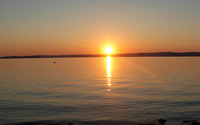 Sunset at Lake Balaton wallpaper 2560x1600 jpg