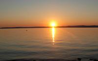 Sunset at Lake Balaton wallpaper 2560x1600 jpg