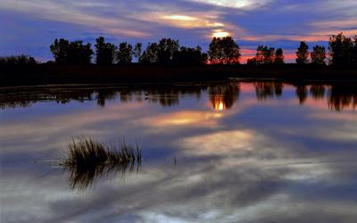 Sunset at the lake [2] wallpaper