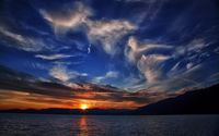 Sunset at the mountain lake wallpaper 1920x1200 jpg