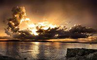 Sunset hidden in the clouds wallpaper 1920x1200 jpg