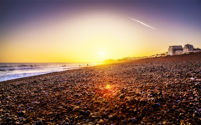 Sunset in Brighton, England wallpaper