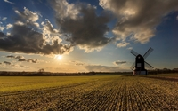 Sunset light over the old windmill wallpaper 1920x1200 jpg