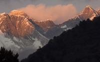 Sunset over Himalayas wallpaper 1920x1080 jpg