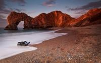 Sunset over the rusty cliff wallpaper 1920x1200 jpg