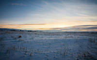 Sunset over the snow wallpaper 2560x1600 jpg