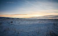 Sunset over the snow wallpaper 2560x1600 jpg