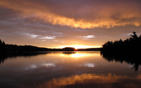Sunset reflecting in the lake [2] wallpaper 2560x1600 jpg