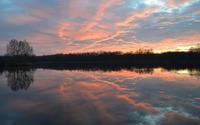 Sunset sky reflecting in the lake wallpaper 2880x1800 jpg
