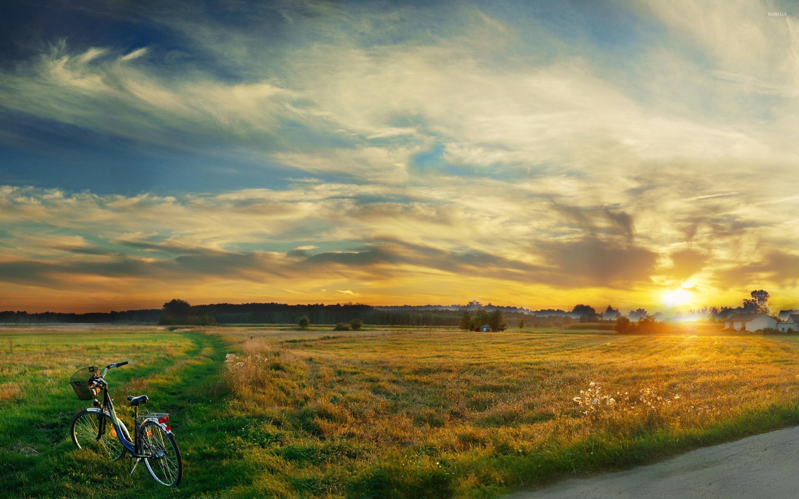 Superb Sunset Lscape Hd Wallpaper