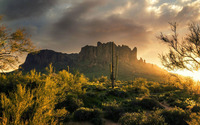 Superstition Mountains, Arizona wallpaper 1920x1200 jpg