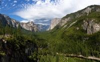 Top view of Yosemite National Park wallpaper 1920x1080 jpg
