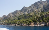 Trees on the rocky northern coast of Majorca wallpaper 3840x2160 jpg