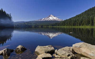 Trillium Lake wallpaper