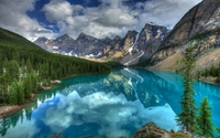 Turquoise lake in Banff National Park wallpaper 1920x1200 jpg