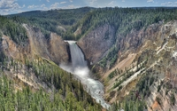 Upper Yellowstone Falls wallpaper 1920x1200 jpg