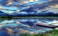 Vermilion Lakes in Banff National Park wallpaper 1920x1200 jpg