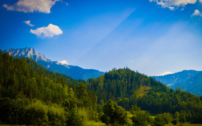 View from Mariazell wallpaper
