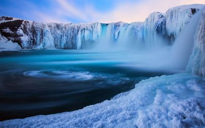 Waterfall in Iceland wallpaper