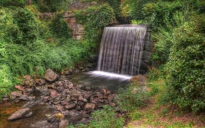 Waterfall on rocky river [3] wallpaper