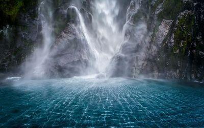 Waterfall stream wallpaper