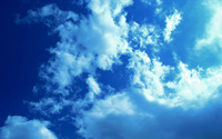 White clouds and blue sky wallpaper 2560x1600 jpg