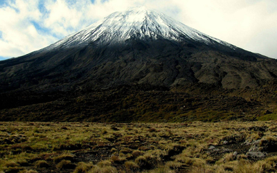 White top of Mount Fuji wallpaper