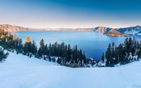Winter at the Crater Lake, Oregon wallpaper 2880x1800 jpg