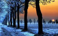 Winter sunset wallpaper 1920x1080 jpg